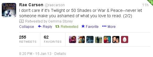 Rae Carson tweet