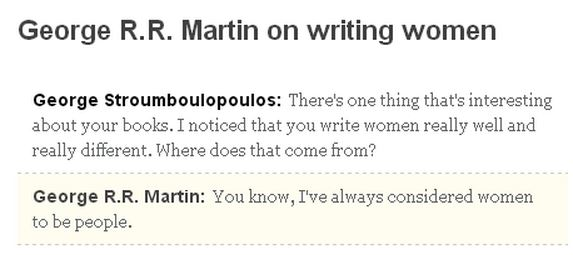 GRRM on women